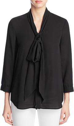 FINITY Tie Neck Blouse $156 thestylecure.com