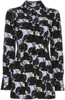 Marni flower pattern crepe shirt