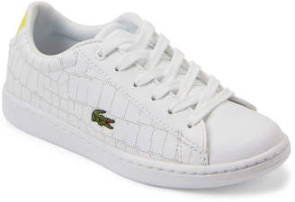 Lacoste Kids Boys) White Carnaby Low-Top Sneakers