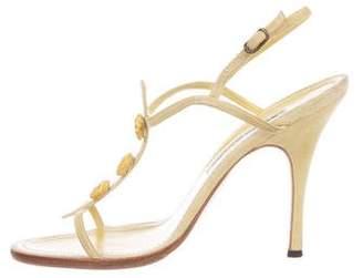 Manolo Blahnik Suede Multi-Straps Sandals