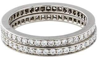 Cartier Platinum Diamond Wedding Band Set