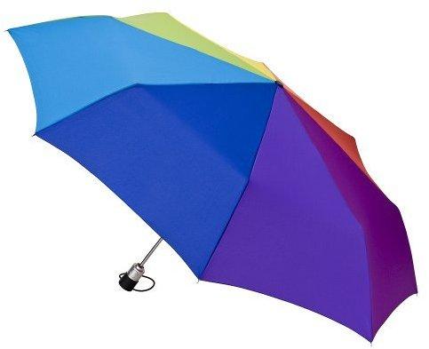 Totes Jumbo Stripe Umbrella Rainbow