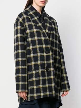 Derek Lam 10 Crosby plaid cocoon coat