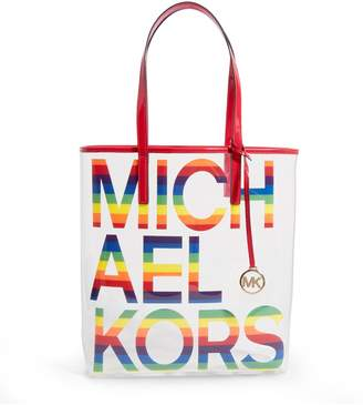 MICHAEL Michael Kors Large Transparent Logo Tote Bag