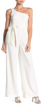 Calvin Klein One Shoulder Waist Tie Jumpsuit