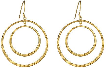 Anya Jewels Double Hoop Half-Molten Gold Earrings