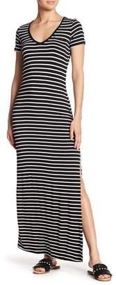 Velvet Torch Solid Side Slit Knit Dress
