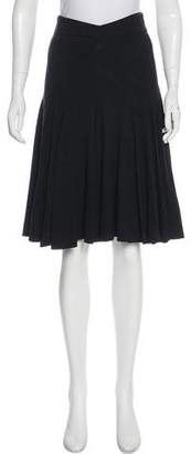 Zac Posen Pleated Knee-Length Skirt