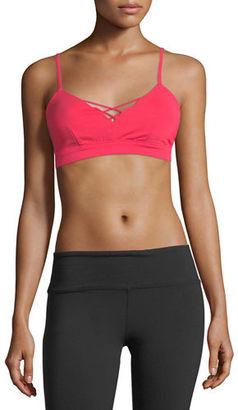 Alo Yoga Interlace Performance Sports Bra $56 thestylecure.com