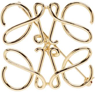 Loewe Gold Anagram Brooch