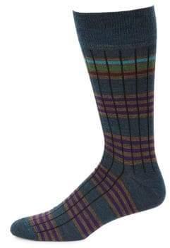 Saks Fifth Avenue COLLECTION Six Color Stripe Socks