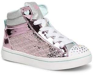 Skechers Kids's Twi-Lites Glitter-Ups Zip-up Trainers in Pink