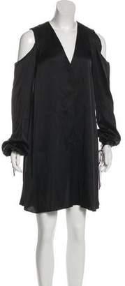Magda Butrym Silk Cold-Shoulder Dress