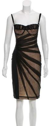 Dolce & Gabbana Mesh-Overlay Strapless Dress