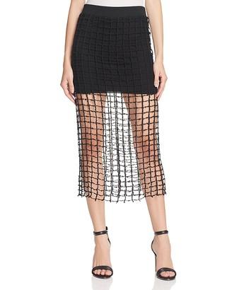 IRO.JEANS Mana Mesh Midi Skirt $360 thestylecure.com