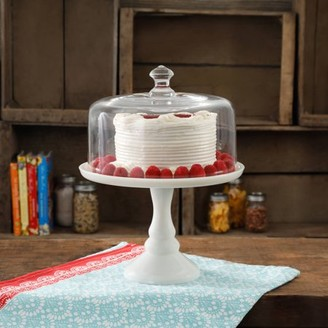 """The Pioneer Woman The pioneer woman timeless beauty 10"""" milk white glass cake stand"""