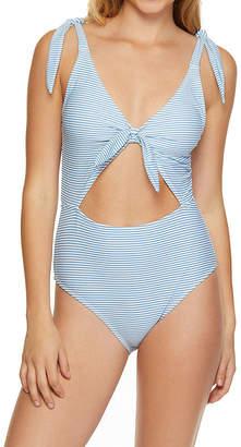 38361afa95a0e Arizona Striped One Piece Swimsuit Juniors
