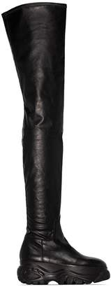 032c x Buffalo thigh-high platform boots