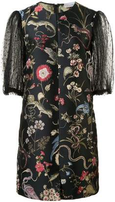 RED Valentino birds print mini dress