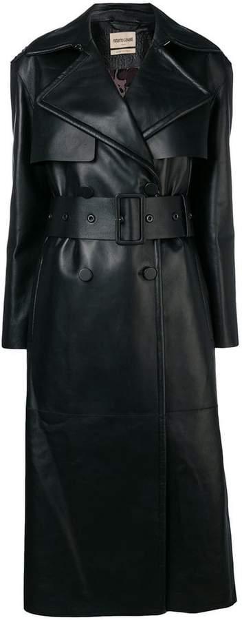 fringe trim trench coat