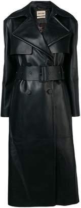 Roberto Cavalli fringe trim trench coat