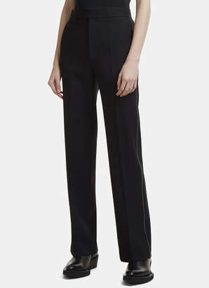 Helmut Lang Zip Trim Twill Suiting Pants in Black