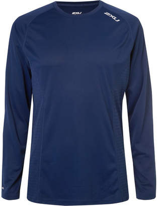 2XU X-VENT Mesh-Panelled Jersey T-Shirt - Men - Navy