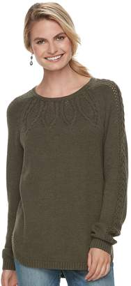 Sonoma Goods For Life Women's SONOMA Goods for Life Cable Knit Sweater