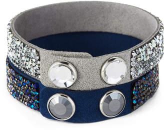 Swarovski Two-Piece Crystal Rock Bracelet Set