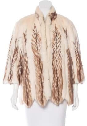 Mink Chevron Coat