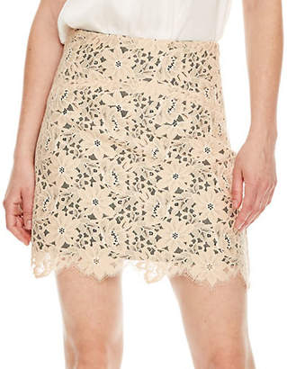 Sandro Flashback Helena Embroidered Lace Pencil Skirt