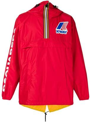 DSQUARED2 x K-Way reversible windbreaker