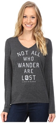 Life is good Michigan State Not All Who Wander Long Sleeve Cool Tee $36 thestylecure.com