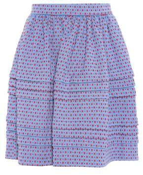Miu Miu Printed cotton skirt