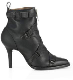 Chloé Tracy Leather Buckle Booties