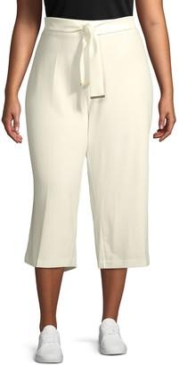 Calvin Klein Collection Plus Front-Tie Culottes