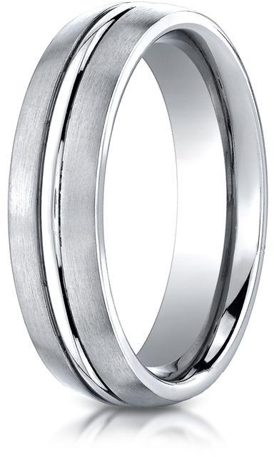 Benchmark Cobalt 6mm Comfort-Fit Satin-Finished Design Ring