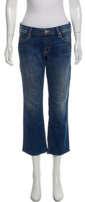 Mother Outsider Crop Mid-Rise Jeans