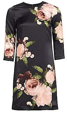 Erdem Women's Emma Floral-Print Shift Dress