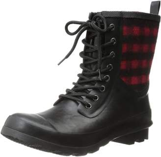 Chooka Women's Cara Plaid Rain Boot
