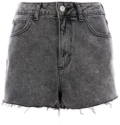 Topshop Topshop Moto acid mom shorts