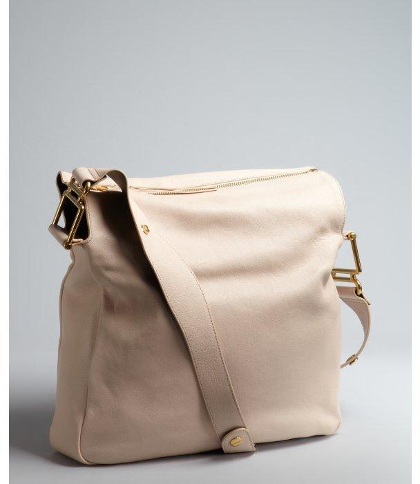 Chloé nude pink leather 'Vanessa' zip shoulder bag
