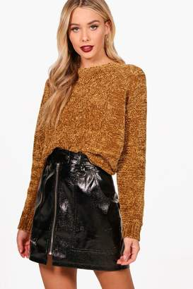 boohoo Cable Front Chenille Jumper