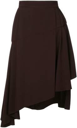 Lanvin asymmetric midi skirt