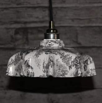 Lyngard Ceramics Campbell Toile Du Jouey Ceramic Pendant Light