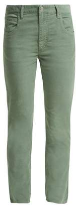 Etoile Isabel Marant Aliff Stretch Cotton Blend Corduroy Trousers - Womens - Khaki