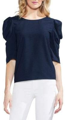 Vince Camuto Sapphire Bloom Ruffled Blouse