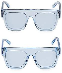 Stella McCartney Women's Mum & Me Clear Flat Top Sunglasses 2-Pair Set