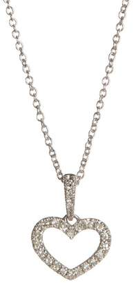 Carriere Sterling Silver Open Heart Diamond Pendant Necklace - 0.12 ctw