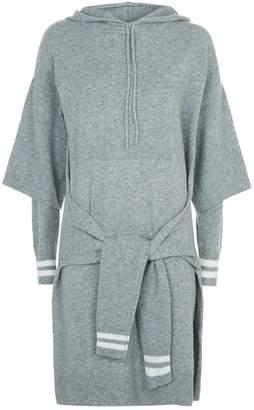 Sandro Knitted Hoodie Dress